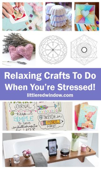 This giant list of relaxing crafts will give you something calming and soothing to work on when you're feeling stressed!
