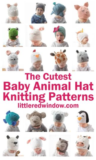 The Cutest Animal Baby Hat Knitting Patterns!
