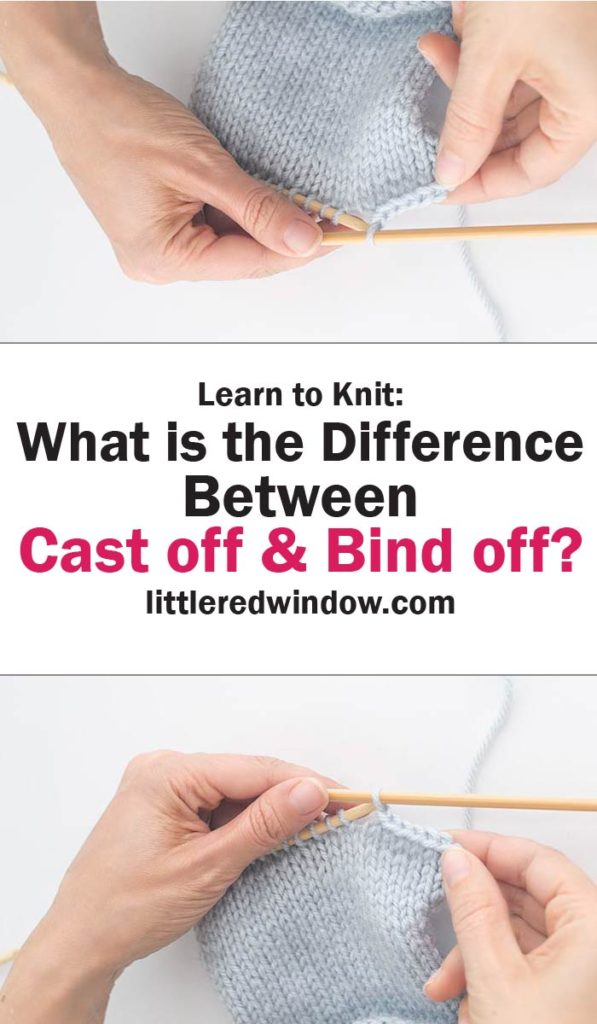 Learn what the difference is between cast off and bind off instructions in knitting patterns!