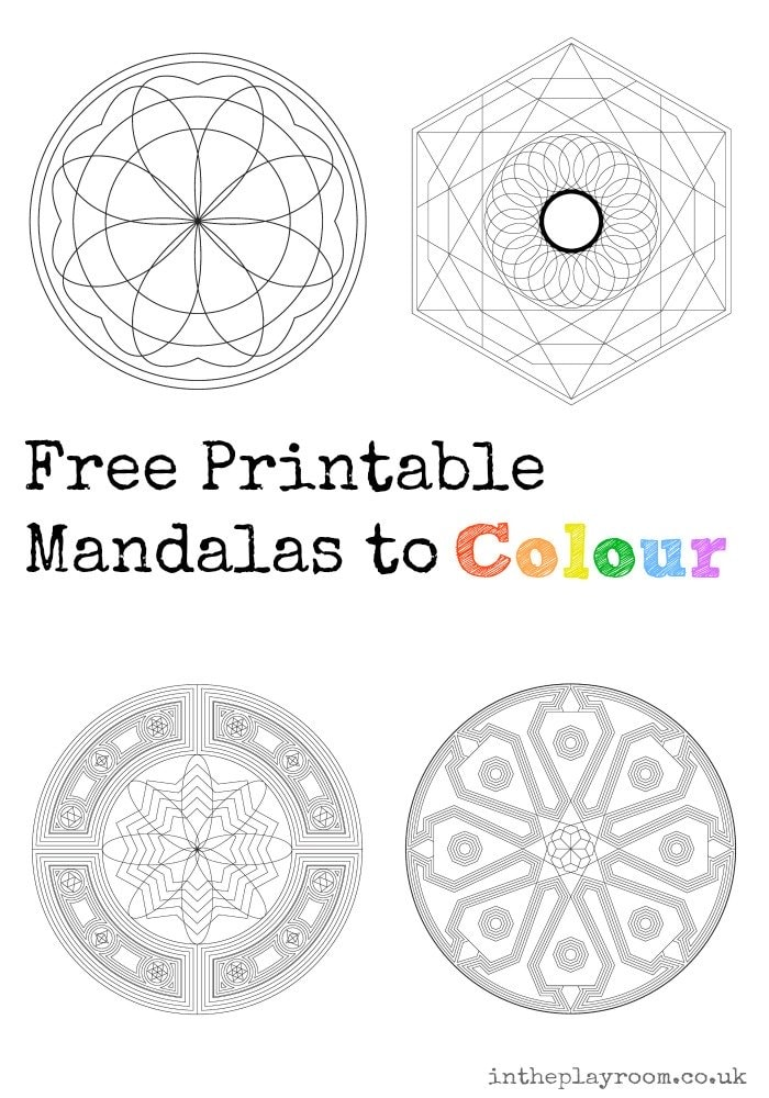 Free Printable Mandalas to Colour