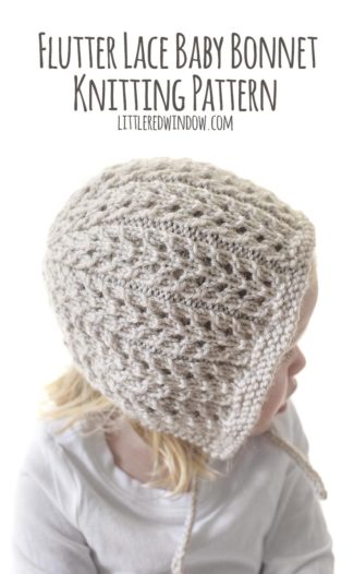 Flutter Lace Bonnet Knitting Pattern