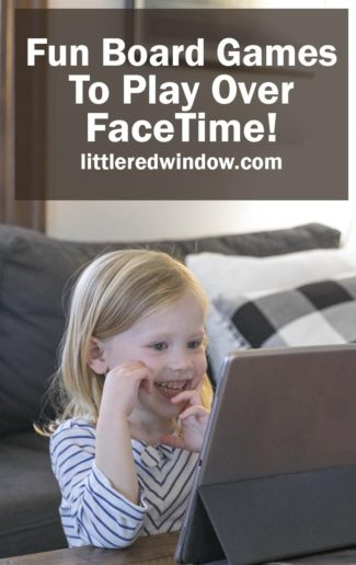 Fun Board Games to Play Over FaceTime with Kids!