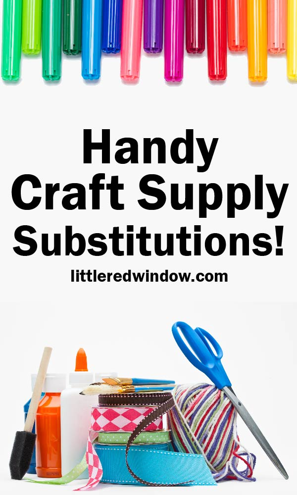 When you run out of something you definitely need this list of handy craft supply substitutions so you can finish your craft project!