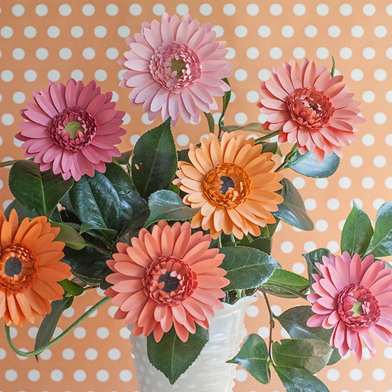 DIY Gerbera Daisy paper flower.