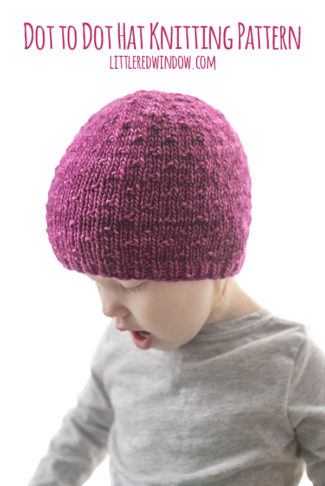 Dot to Dot Hat Knitting Pattern
