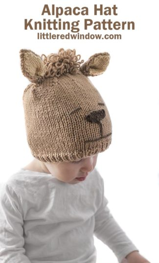 Alpaca Hat Knitting Pattern