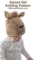 alpaca hat knitting pattern