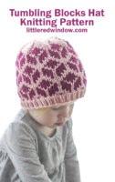 tumbling blocks hat knitting pattenr