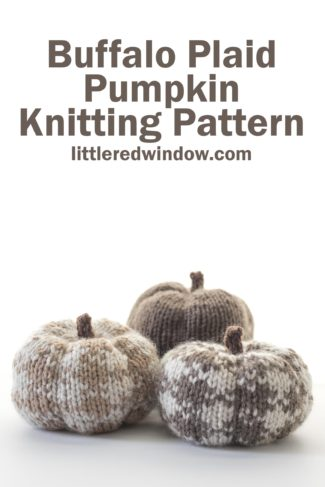 Buffalo Plaid Pumpkin Knitting Pattern