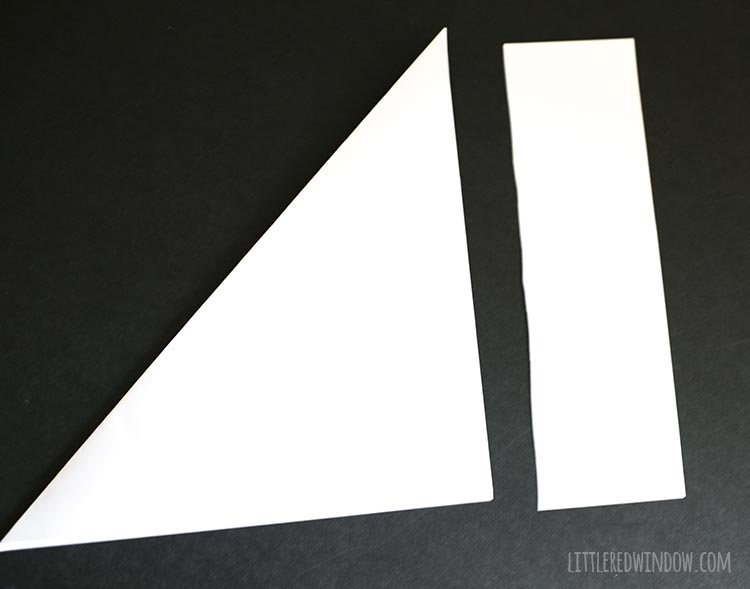 excess paper cut off from folded square