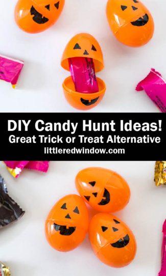 DIY Pumpkin Eggs & Halloween Candy Hunt