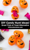 DIY Pumpkin Eggs & Halloween Candy Hunt