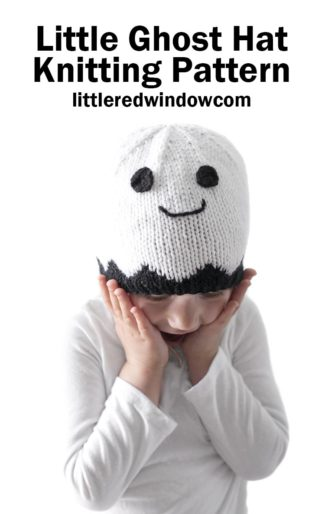 Little Ghost Hat Knitting Pattern