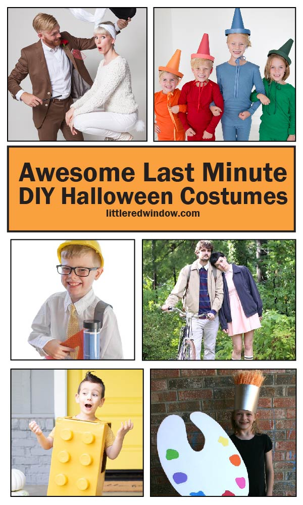 Don't worry if you waited, here are some awesome ideas for last minute DIY Halloween costumes that you can make with things you already have at home!