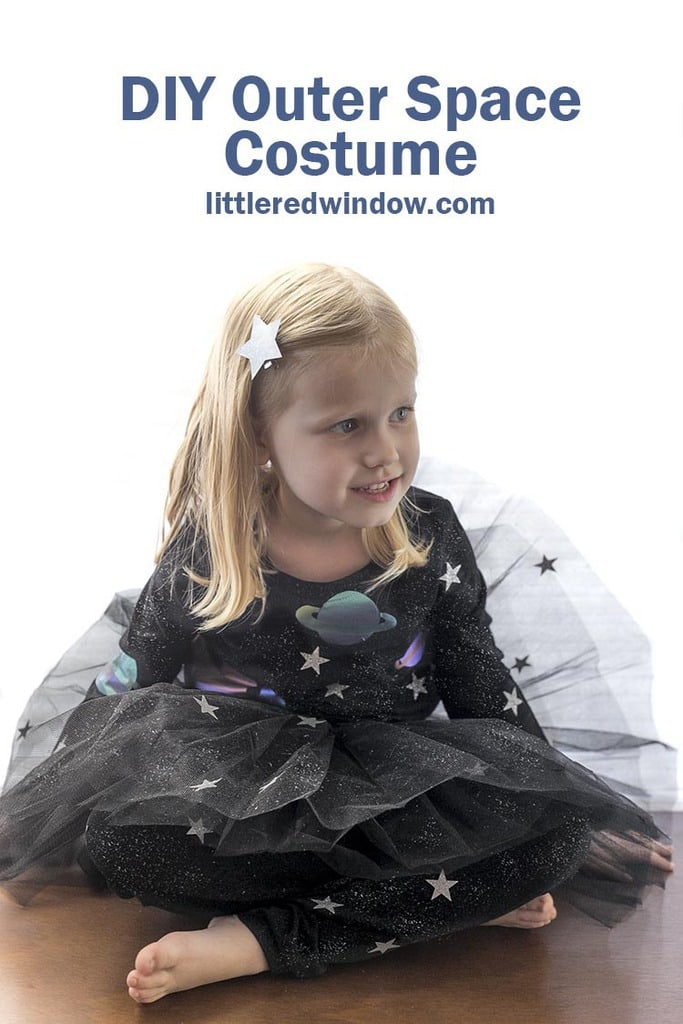 This cute completely DIY outer space costume is out of this world! With just a fun few supplies you can make your own solar system!