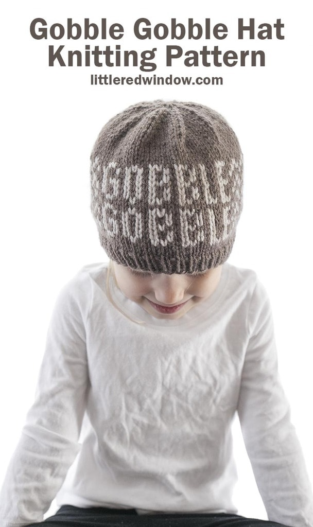 This is adorable Thanksgiving Gobble Gobble Hat knitting pattern is perfect to knit for your baby's first (or second, or third...) Thanksgiving!