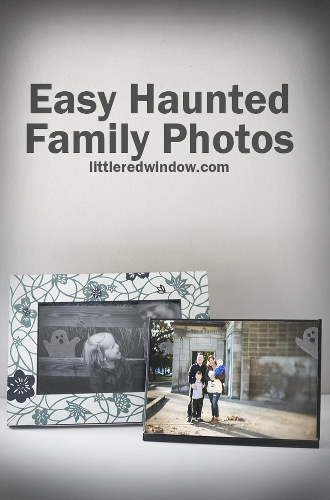 Get your Halloween off to a spooky start by turning your regular pics into Halloween Haunted Family Photos with just a couple super easy supplies!