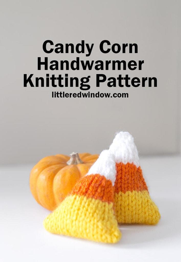 small candy corn handwarmers