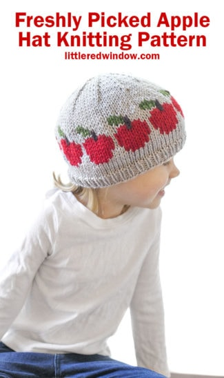 Freshly Picked Apple Hat Knitting Pattern