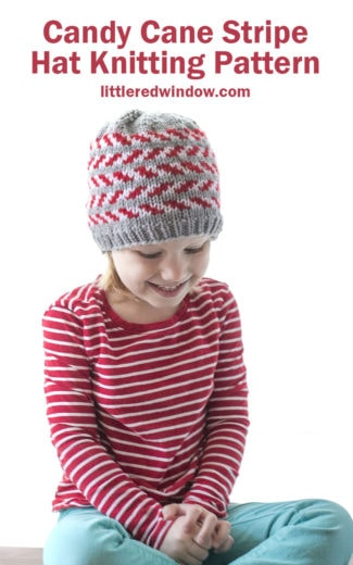 Candy Cane Stripe Hat Knitting Pattern