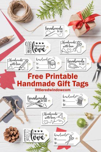 Printable Handmade Gift Tags