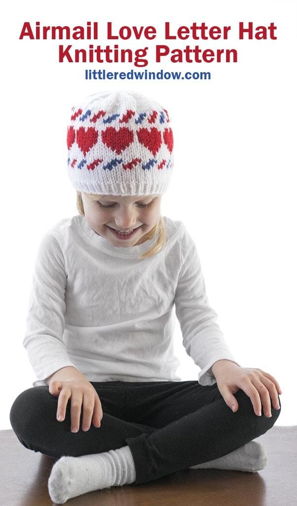 Airmail Love Letter Hat Knitting Pattern
