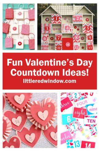 Fun & Crafty Valentine's Day Countdown Ideas!