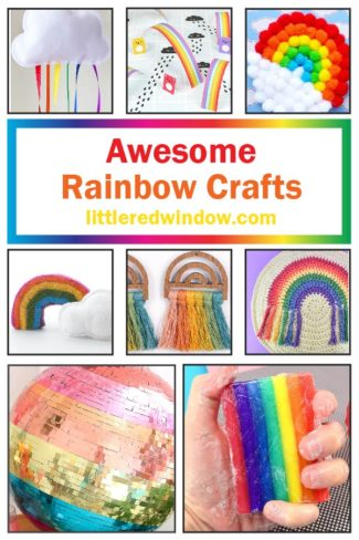 These colorful rainbow crafts ideas will bring tons of brightness, joy, fun and colors to your home!