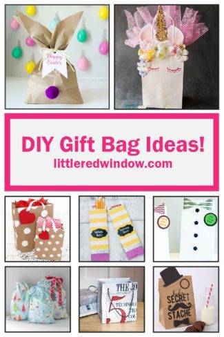 Ever need a gift bag in a weird size or need one right now but don't have time to go to the store? Here are some awesome DIY gift bag ideas you can make yourself at home!