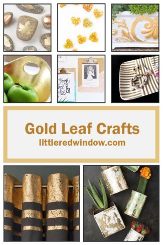 Gold Leaf is an amazing craft supply to try and these beautiful gold leaf crafts will add some sparkle to your life!