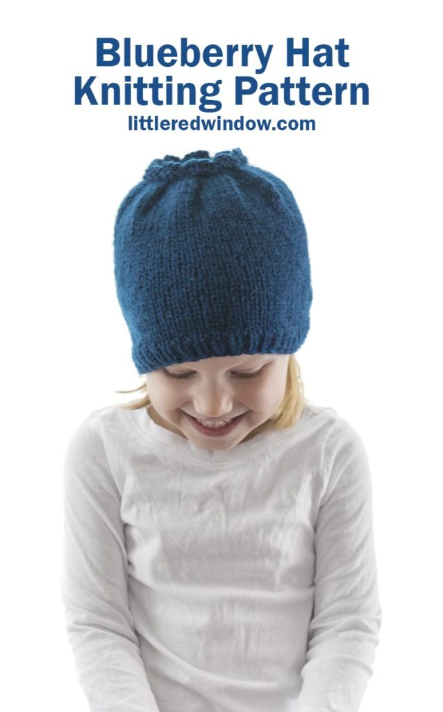Knit up this adorable blueberry hat knitting pattern for your sweet baby or toddler, they'll be the cutest blueberry on the blueberry bush!