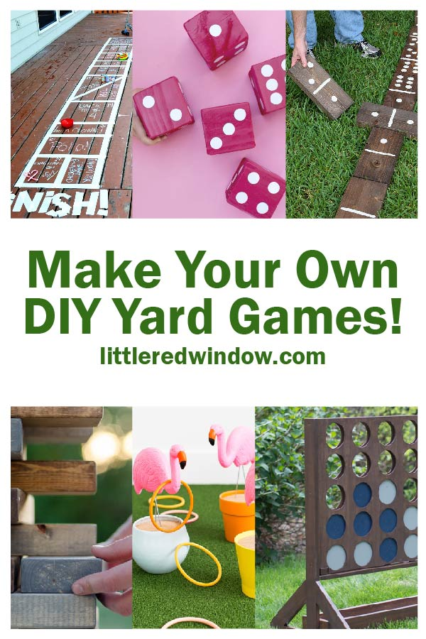 Have fun outside at home with these super creative DIY yard games projects, you can make and enjoy all of these fun games yourself!