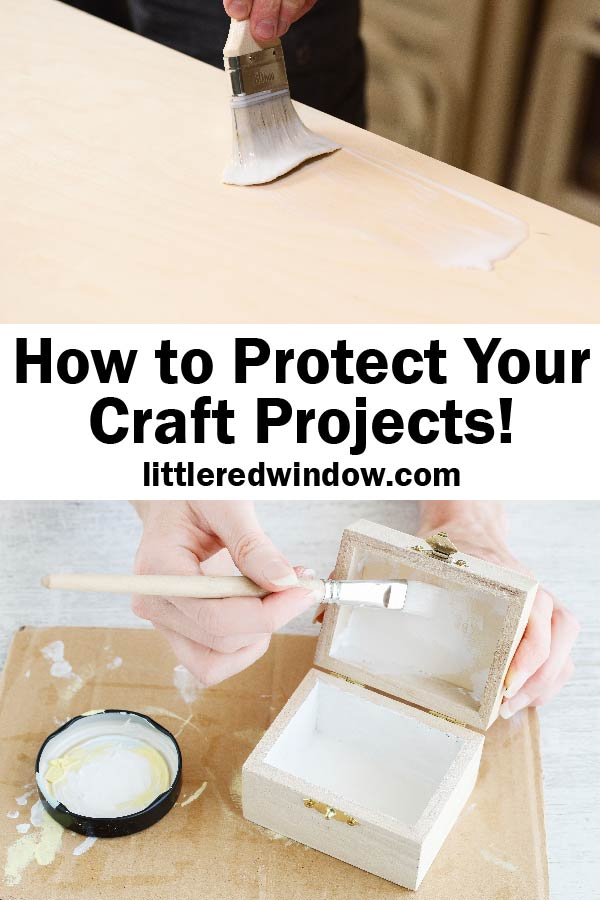 Learn how to protect your craft projects to make them last and stay looking brand new over time!