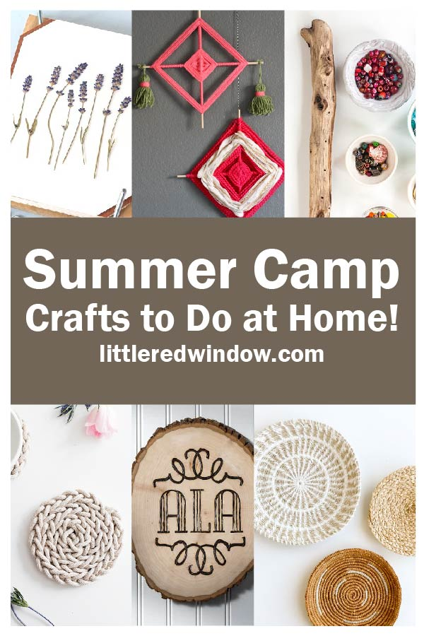 You'll love these summer camp crafts you can do at home this summer, it'll feel just like you're at sleepaway camp!