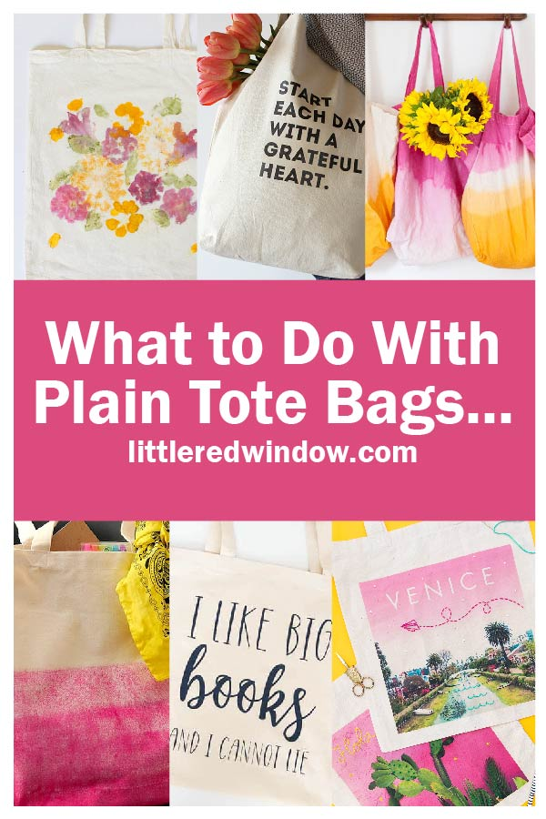 We often have too many in our home, here are some fantastic and creative ideas for what to do with plain tote bags!