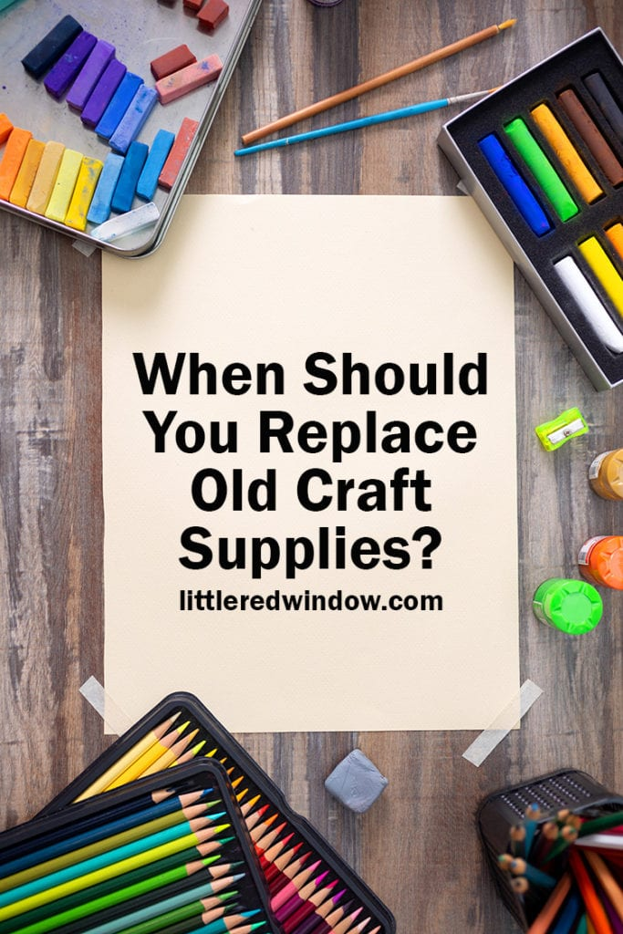 Find out when you should replace old craft supplies or when your craft supplies expire with this handy guide.